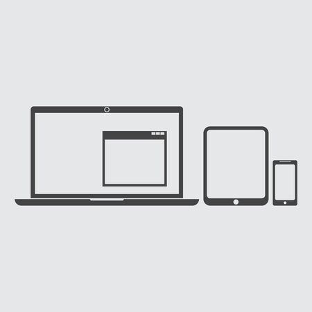 touchpad: Laptop, tablet, phone icon flat