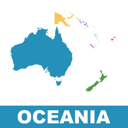 Political Map of Oceania.