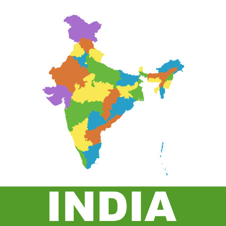 federal states: India map with federal states.