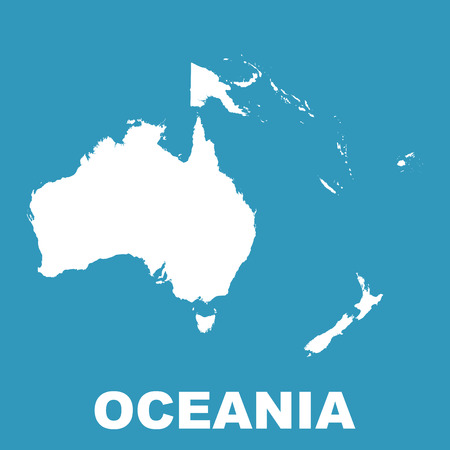 oceania: Australia and Oceania map.
