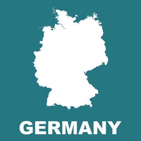 deutschland karte: Deutschland-Karte. Illustration