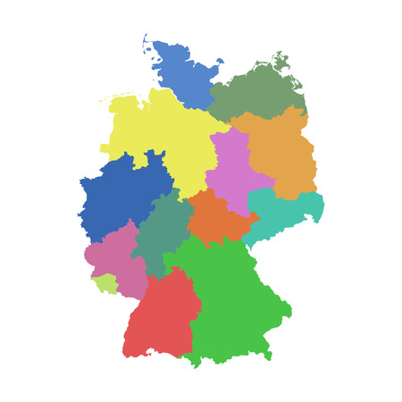 Germany map with federal states.