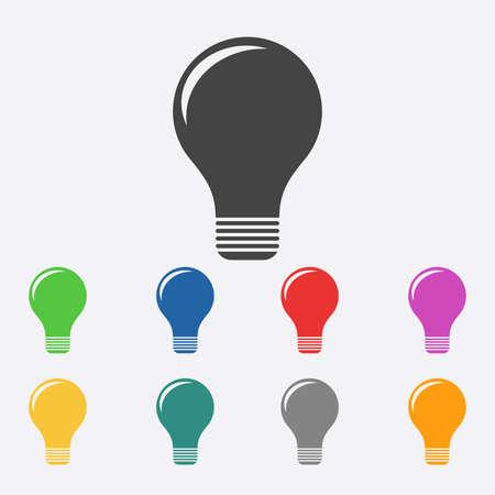 lamp light: Light lamp sign icon. Illustration
