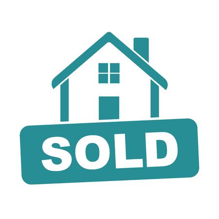 Sold house. Vektorové ilustrace
