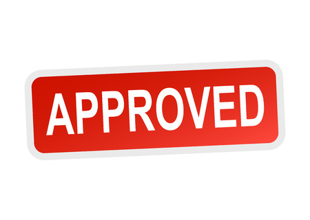 approved: Approved sign. Illustration
