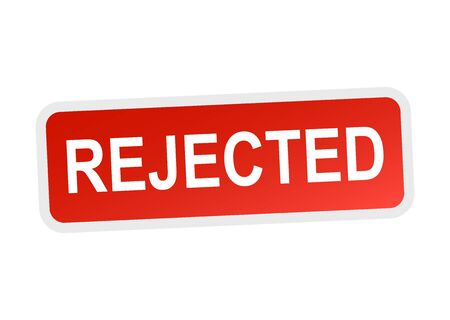 reject: Rejected sticker red.