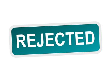 reject: Rejected sticker blue.
