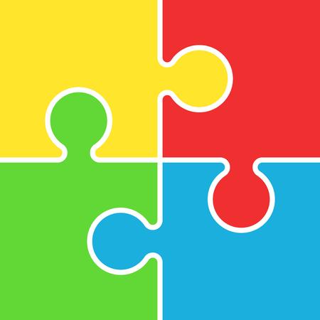 Puzzle icon flat illustration