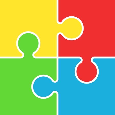 Puzzle icon flat illustratie