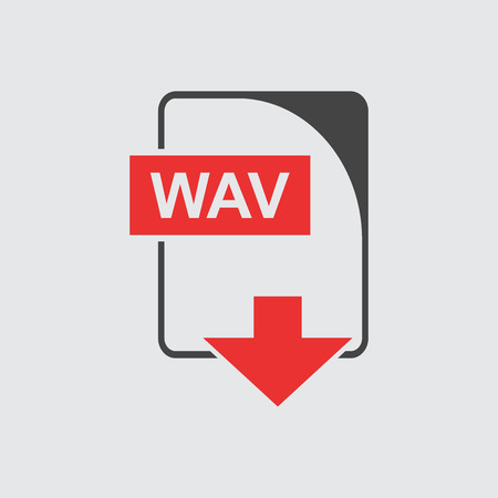 wav: WAV Icon flat Illustration