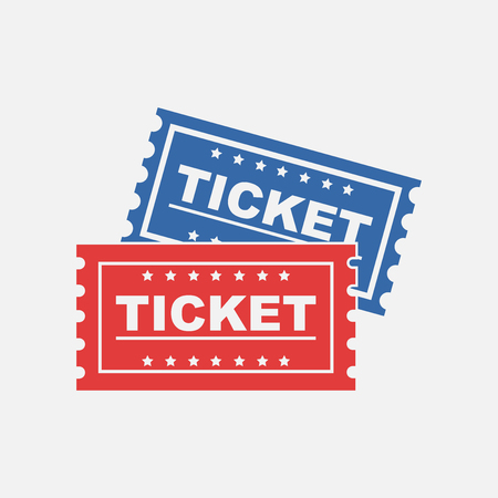 Ticket icon on white background. Stock Vector - 59280091