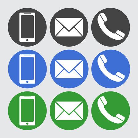 Telefon, SMS-Icons. Standard-Bild - 59280104