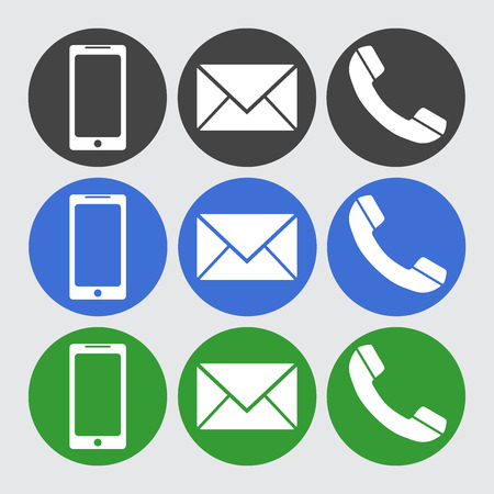 sms: Telephone, sms icons.