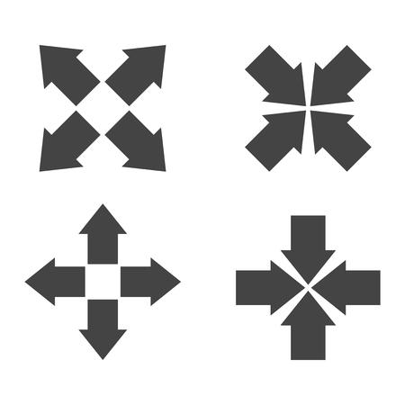 Arrow symbol icons.