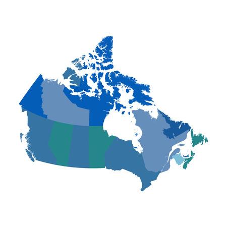 Canada political map  イラスト・ベクター素材