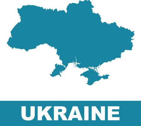 modernity: Ukraine map on white background.