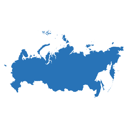 high detailed: High detailed map - Russia Illustration