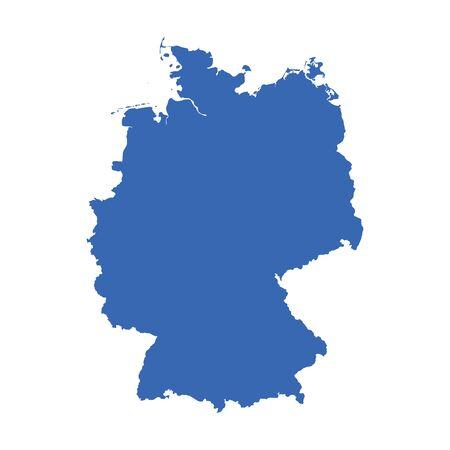 deutschland karte: Deutschland Karte auf wei�em Hintergrund.