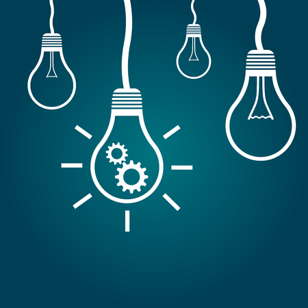 Light bulb idea flat