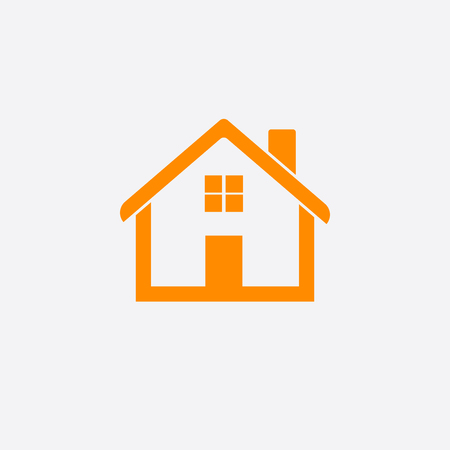 Orange home icon isolated on white background 矢量图像