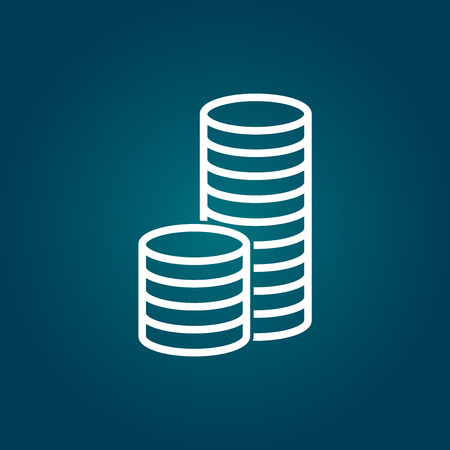 stack of coins: Stack coins icon. Money flat vector illustration