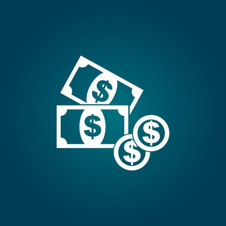 お金のアイコン。コイン フラット ベクトル図  イラスト・ベクター素材