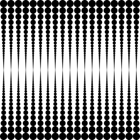 rounds: Vector halftone rounds. White rounds on black background