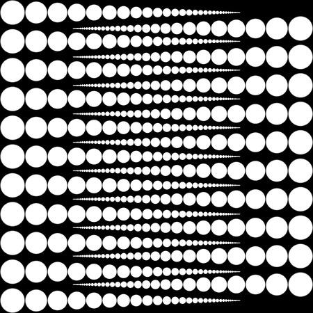 Vector arrondit. tours blanches sur fond noir