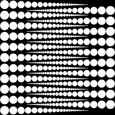 rounds: Vector rounds. White rounds on black background Illustration