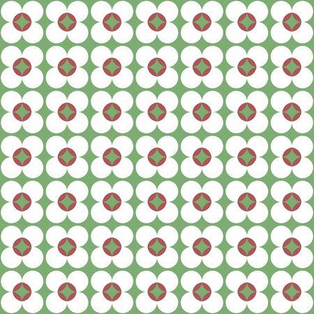 muted: vintage flower pattern