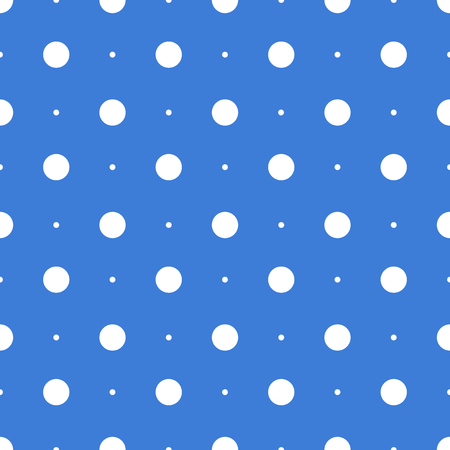 Seamless dots pattern. Vector seamless on blue background 일러스트