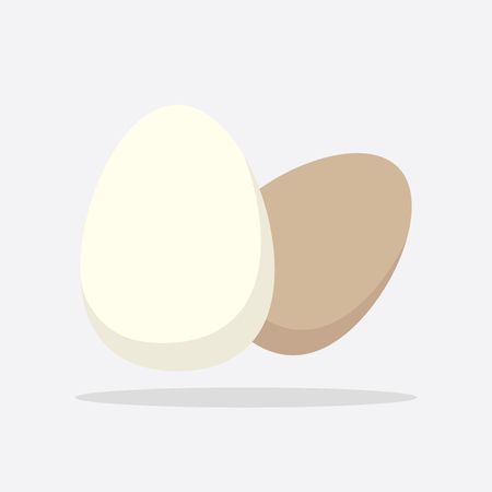 Egg Icon. Flat vector illustration on white background Ilustração