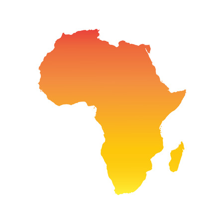 ethiopia abstract: Africa map. Colorful orange vector illustration Illustration