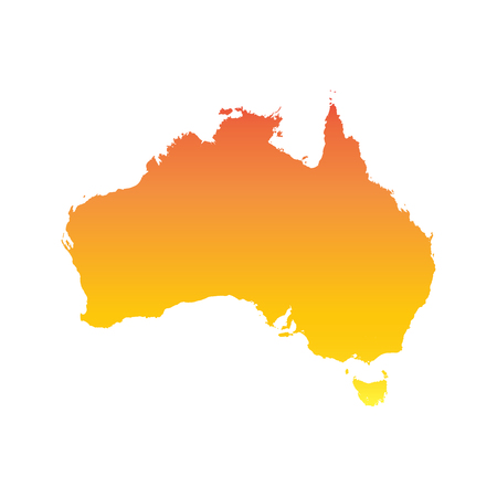 Australia map. Colorful orange vector illustration Illustration