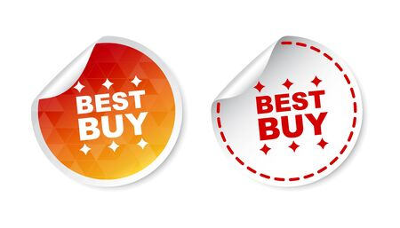 best buy: Best buy stickers. Vector illustration on white background.