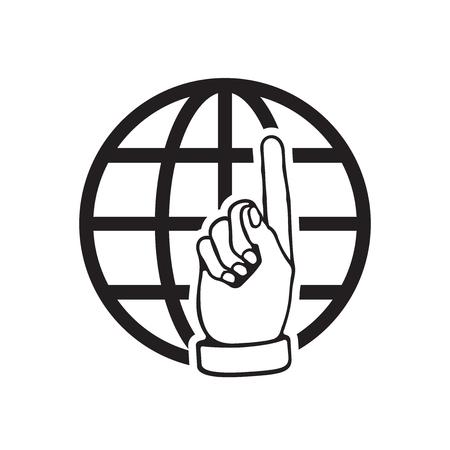 Go to web icon. Internet flat vector illustration for website on white background. Illustration