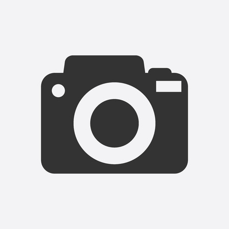 artistic photography: Camera icon on white background. Flat vector illustration.