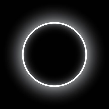 Abstract background. Neon round. Eclipse vector illustration. Çizim