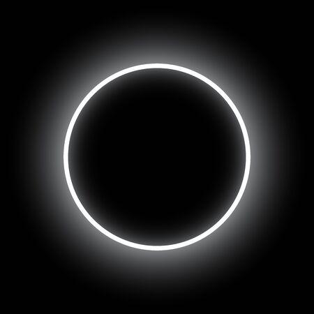 Abstract background. Neon round. Eclipse vector illustration. Vettoriali