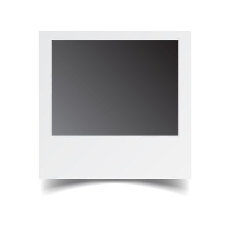 instant message: Blank retro photo frame on white isolated background. Vector illustration.