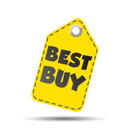 Best buy hang tag. Vector illustration