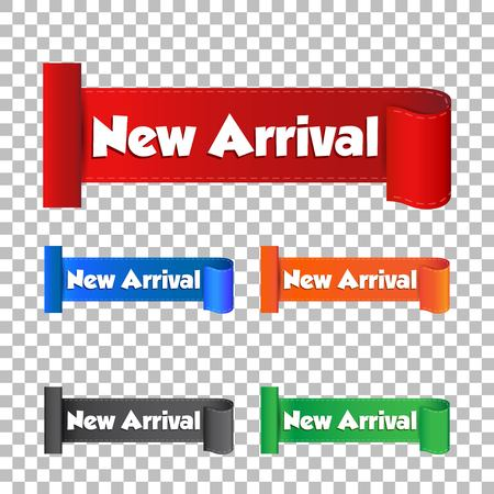 New arrival sticker. Label vector illustration on isolated background