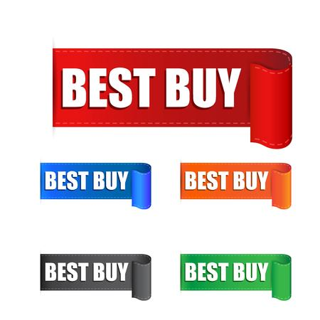 choise: Best buy sticker. Label vector illustration on white background