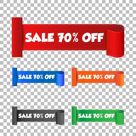 Sale 70% off sticker. Label vector illustration on isolated background