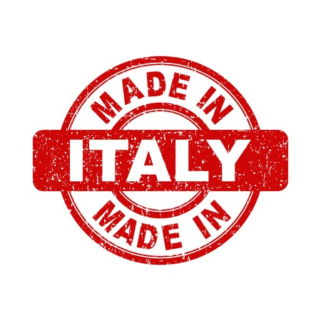 made in italy: Made in Italy red stamp. Vector illustration on white background