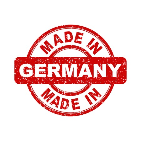 made in germany: Made in Germany red stamp. Vector illustration on white background