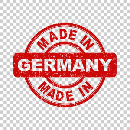 made in germany: Made in Germany red stamp. Vector illustration on isolated background