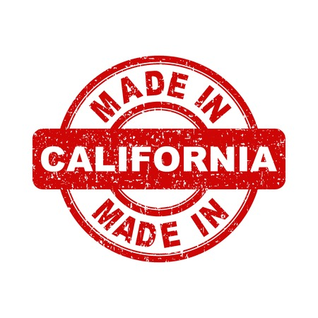 Made in California red stamp. Vector illustration on white background Illusztráció