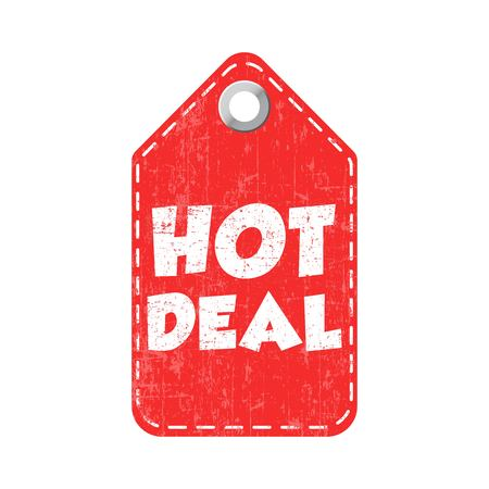 Hot deal hang tag. Vector illustration