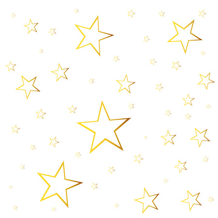 falling star: Abstract falling star vector. Illustration with golden christmas stars on white background